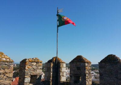 Bandeira portuguesa no Castelo de Alter do Chão